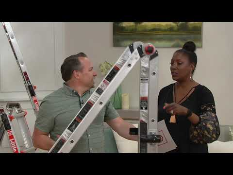 Little Giant EZ 17′ 24-in-1 Multi-Function Ladder with Wheels on QVC